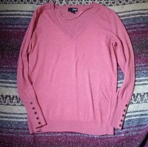 ana V-neck Rose Sweater Size Medium